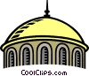 Vector Clip Art image  of a church dome