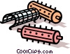 Vector Clip Art image  of a hair curlers