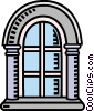 Vector Clipart illustration  of an arched window