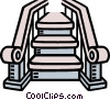stairway, stairs Vector Clipart illustration