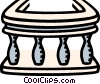 Vector Clipart picture  of a railing