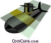 Vector Clip Art picture  of a navy submarine