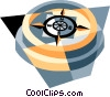 compass Vector Clip Art graphic
