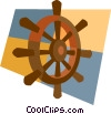 Vector Clipart image  of a helmsman's wheel