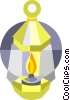 Vector Clip Art image  of a oil lamp