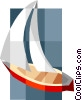 sailboat Vector Clipart graphic