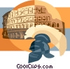 Vector Clipart illustration  of a Coliseum Rome