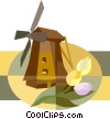 windmill Vector Clip Art image