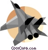Vector Clipart image  of a military jet