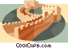 Vector Clipart illustration  of a Great Wall of China