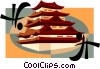 Vector Clip Art image  of a Japanese Pagoda
