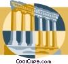 Roman architectural column facade Vector Clip Art image