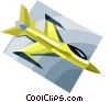 military jet, aircraft Vector Clipart illustration