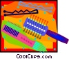 Vector Clip Art graphic  of a hairbrush