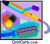 Vector Clipart picture  of a hair curling instruments