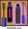 Vector Clipart graphic  of a mascara and lip gloss