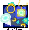 Vector Clipart graphic  of a diamond jewelry