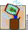 Vector Clipart graphic  of a radiating propane heater