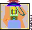 Vector Clipart picture  of a propane lantern
