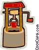 water well Vector Clip Art graphic