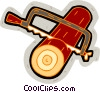log with saw Vector Clipart picture