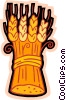Vector Clip Art graphic  of a wheat harvest