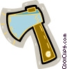 Vector Clipart illustration  of an axe or hatchet