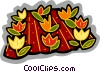 Vector Clipart picture  of a crops growing in a field