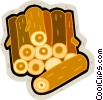 Vector Clipart picture  of a logs