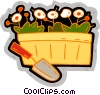 Vector Clipart illustration  of a flowers in a basket