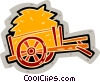 Vector Clipart image  of a hay wagon
