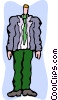 Vector Clipart illustration  of a tall man