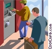 Vector Clip Art image  of an Automated teller machine