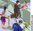 banking, bank teller Vector Clip Art picture