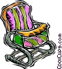 Vector Clipart picture  of a baby seat