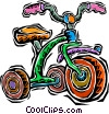 Vector Clipart picture  of a tricycle