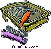 Vector Clip Art picture  of a paint tray