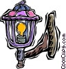 porch light Vector Clipart picture