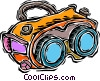Vector Clipart image  of a night vision goggles