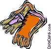 Vector Clipart graphic  of a protective gloves