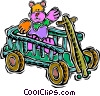 Vector Clipart image  of a wagon