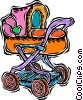 Vector Clipart image  of a stroller, baby carriage