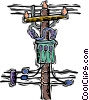 Vector Clip Art image  of a transformer