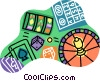 Vector Clipart graphic  of a Las Vegas gambling