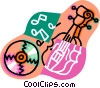 Vector Clip Art picture  of a violin with music CD