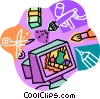 computer graphics design Vector Clip Art graphic