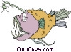 Vector Clip Art picture  of a deep sea fish