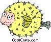 Vector Clipart graphic  of a blow fish