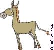 Vector Clip Art graphic  of a donkey