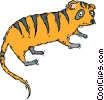 Vector Clip Art graphic  of a exotic mammal